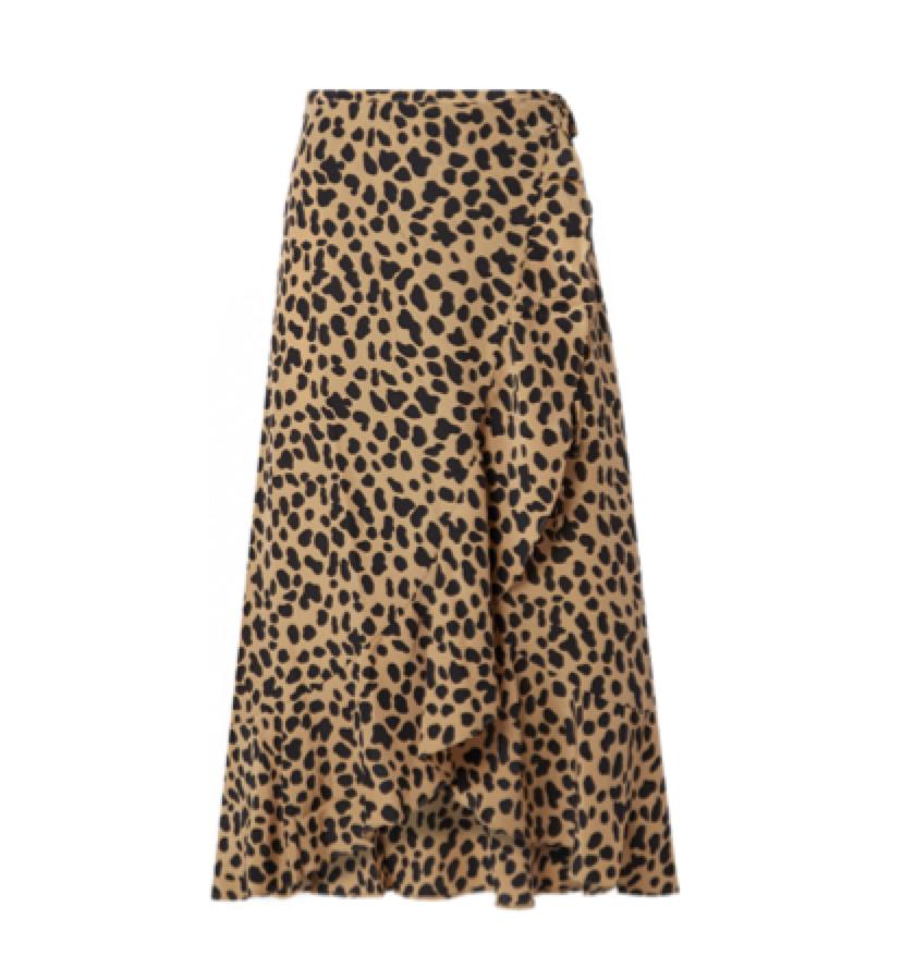 RIXO -  Animal print skirt
