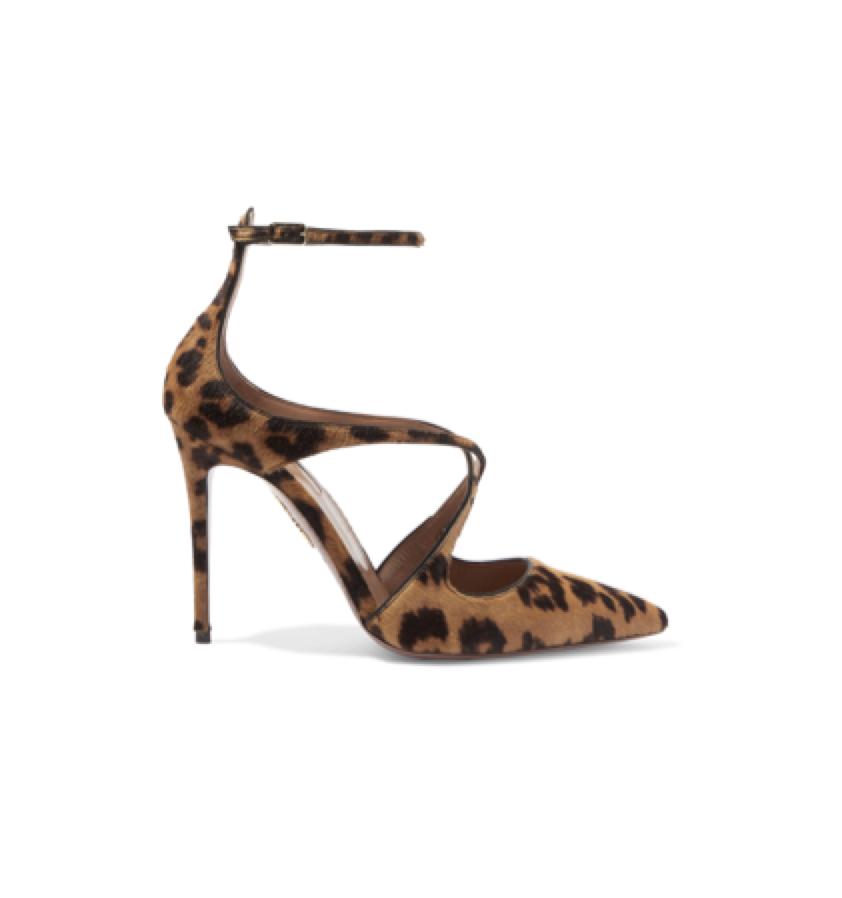 AQUAZURRA -  Animal print heel