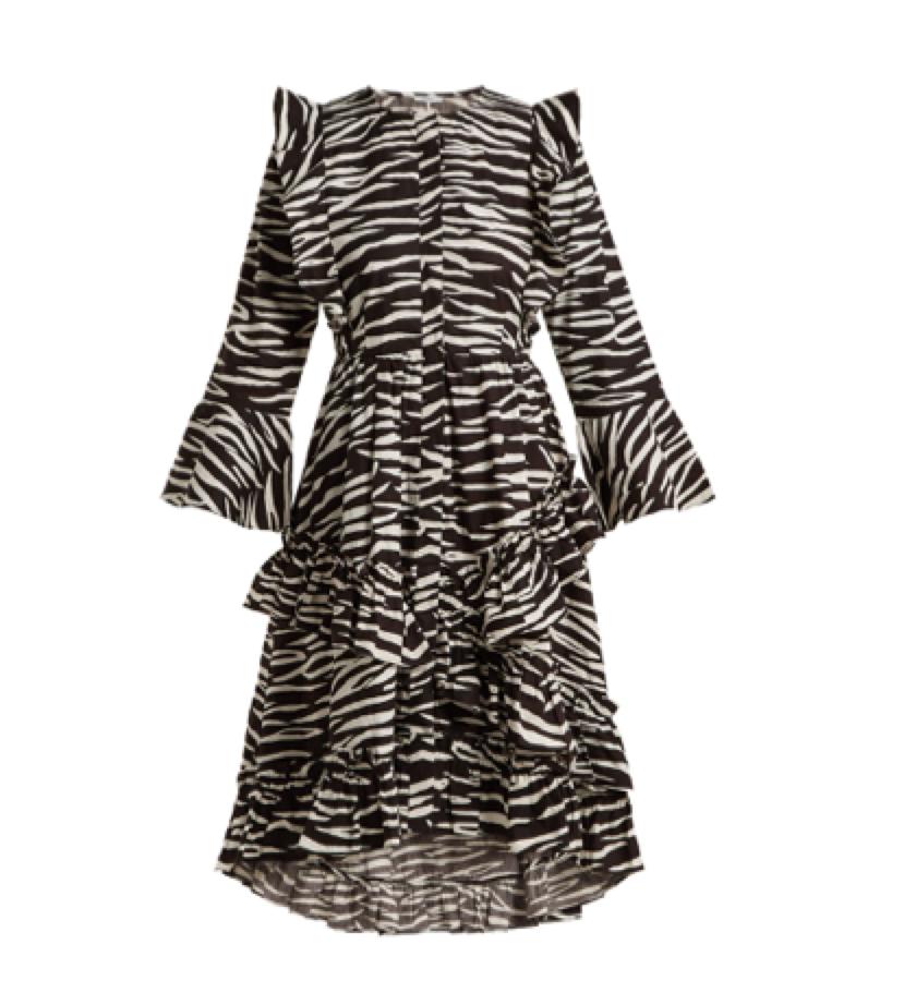 FEMININE DRESS -  GANNI print dress