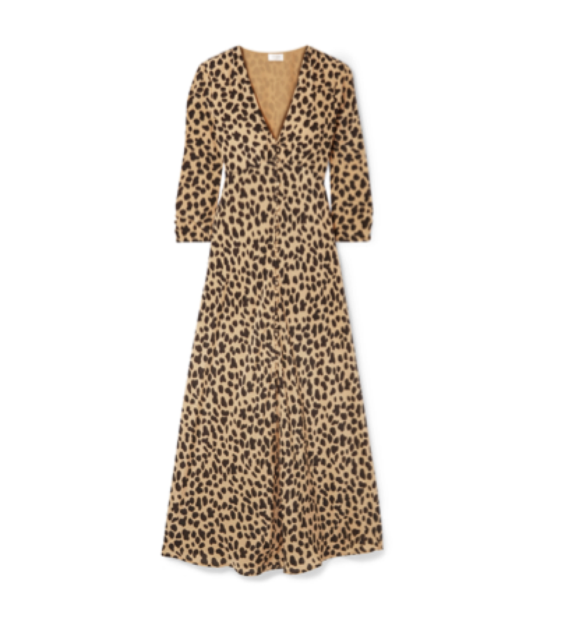 RIXO -  animal maxi dress