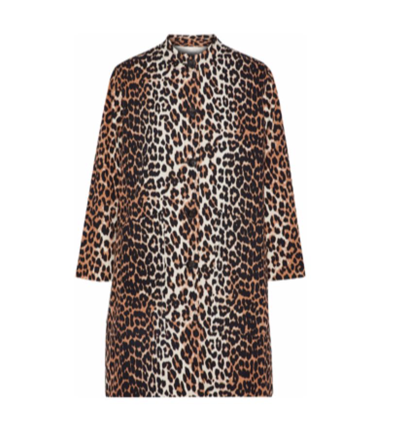 GANNI -  leopard coat