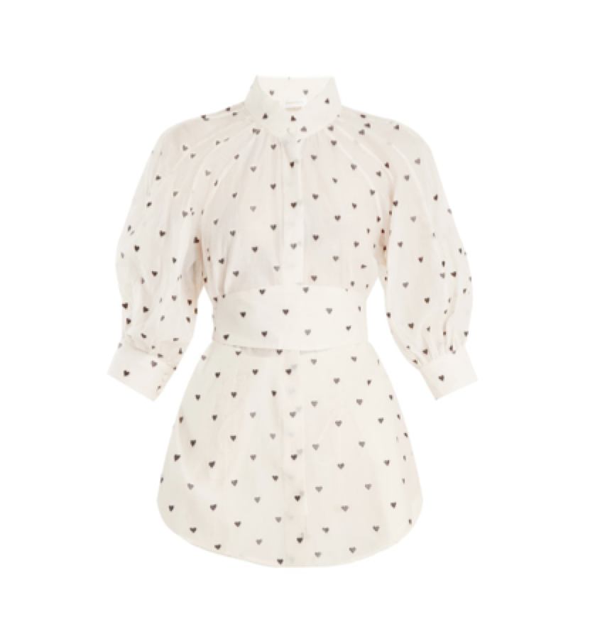 ZIMMERMANN -  Heart print shirt