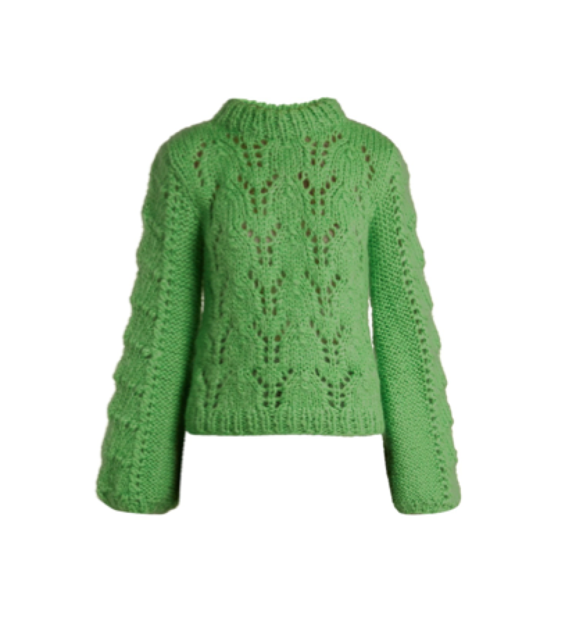 GANNI -  Green sweater