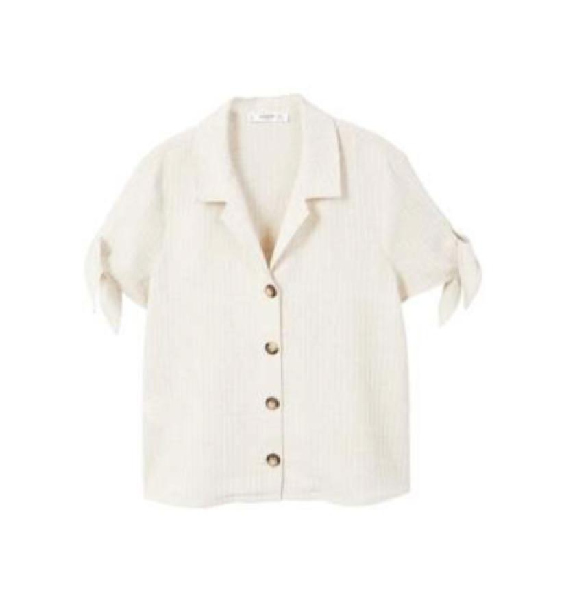 Mango -  knot sleeve shirt