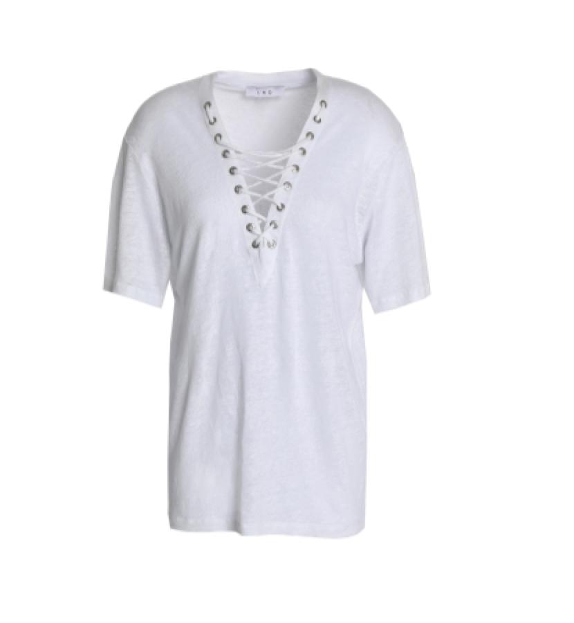 IRO -  lace detail t-shirt