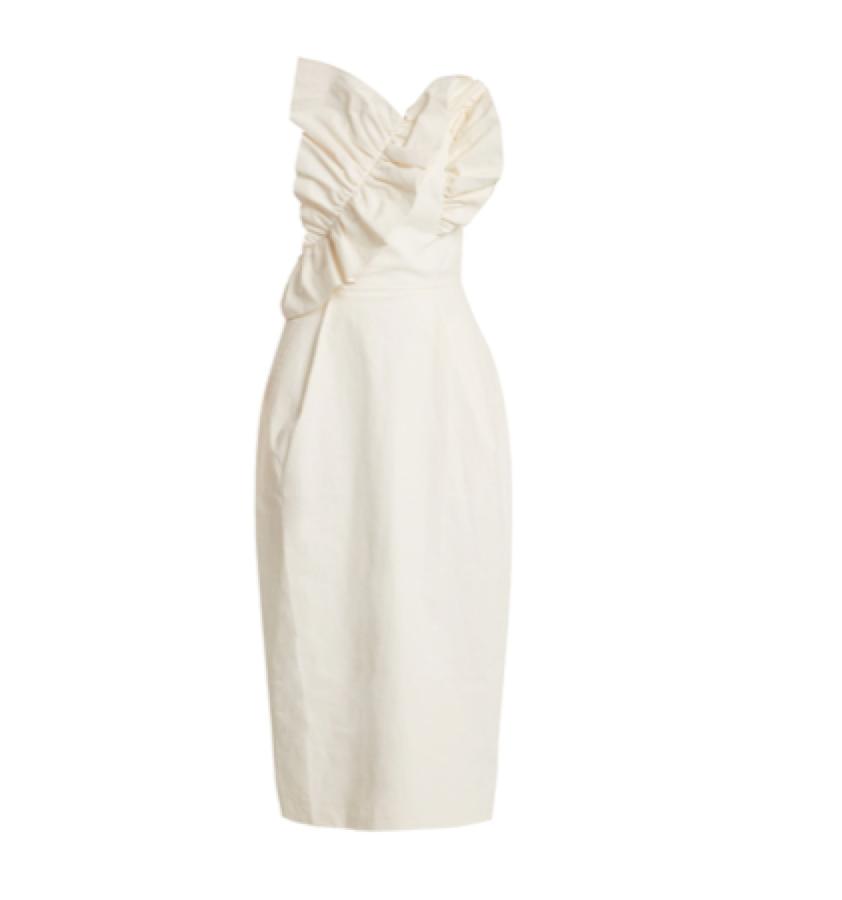 Anna October -  ruffle strapless dress