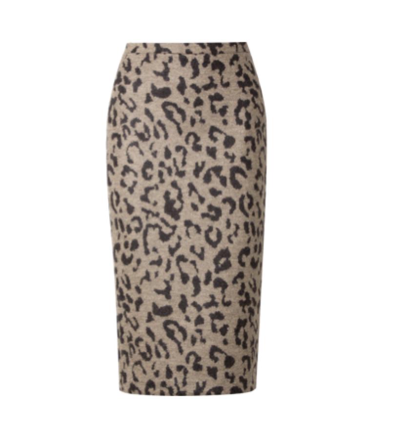 Max Mara -  animal print skirt