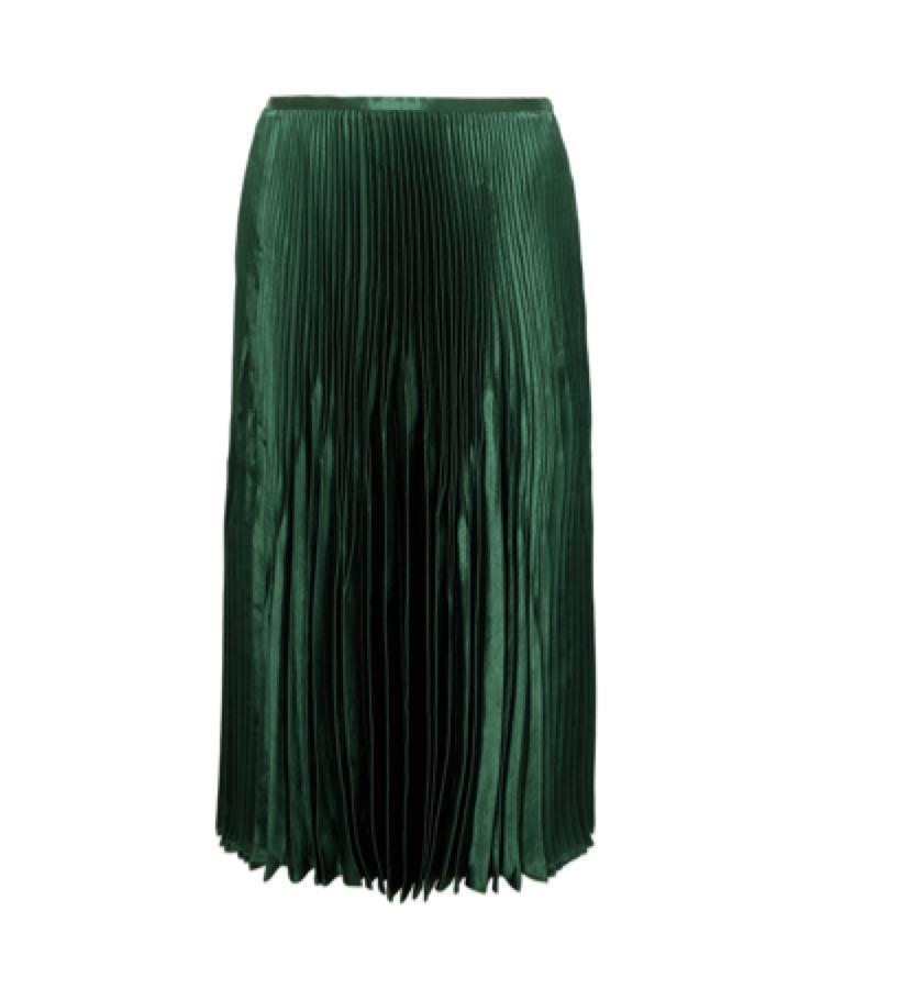 Vince -  pleated olive skirt