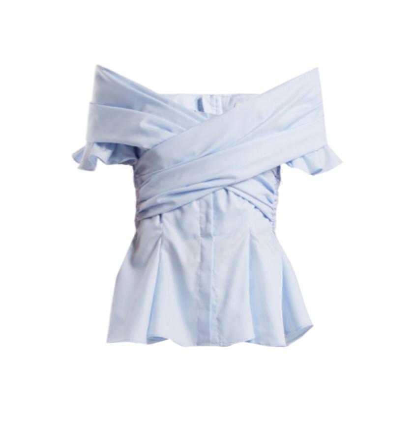 Jonathan Simkhai -  wrap shirt