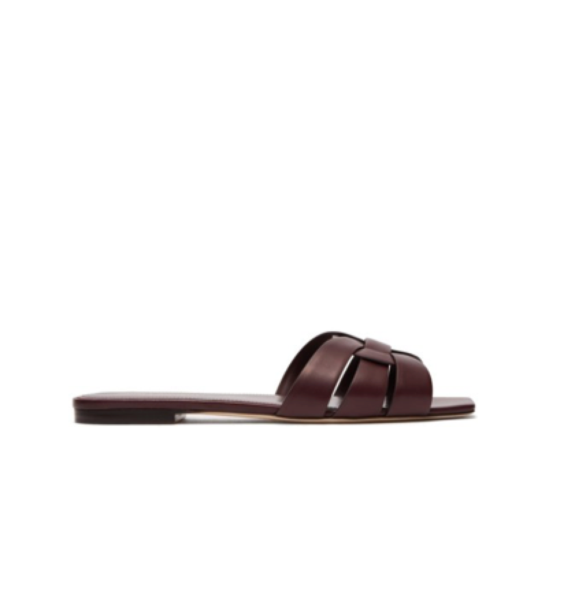 Saint Laurent -  leather slide