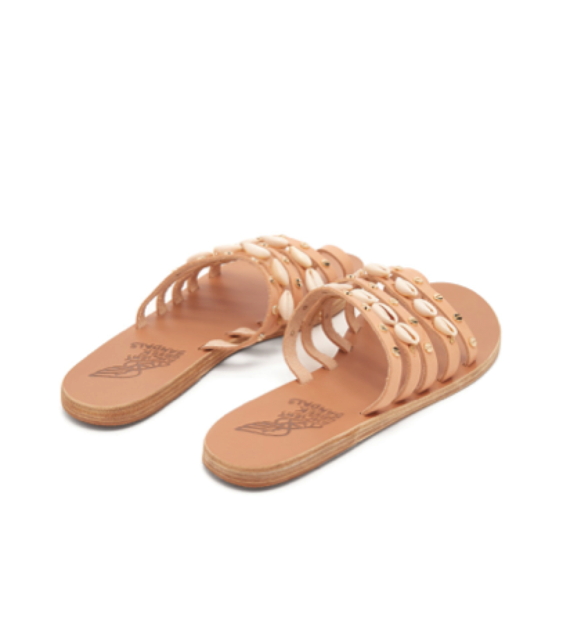 Ancient Greek Sandals -  shell slide