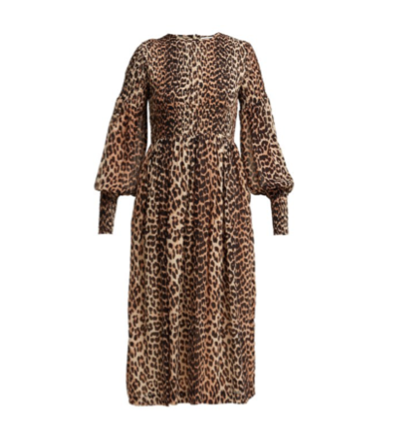 Ganni -  Animal print dress