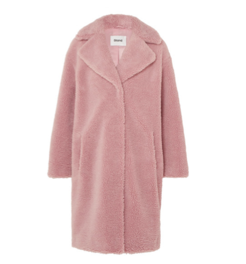 STAND -  Pink  Faux Shearling Coat