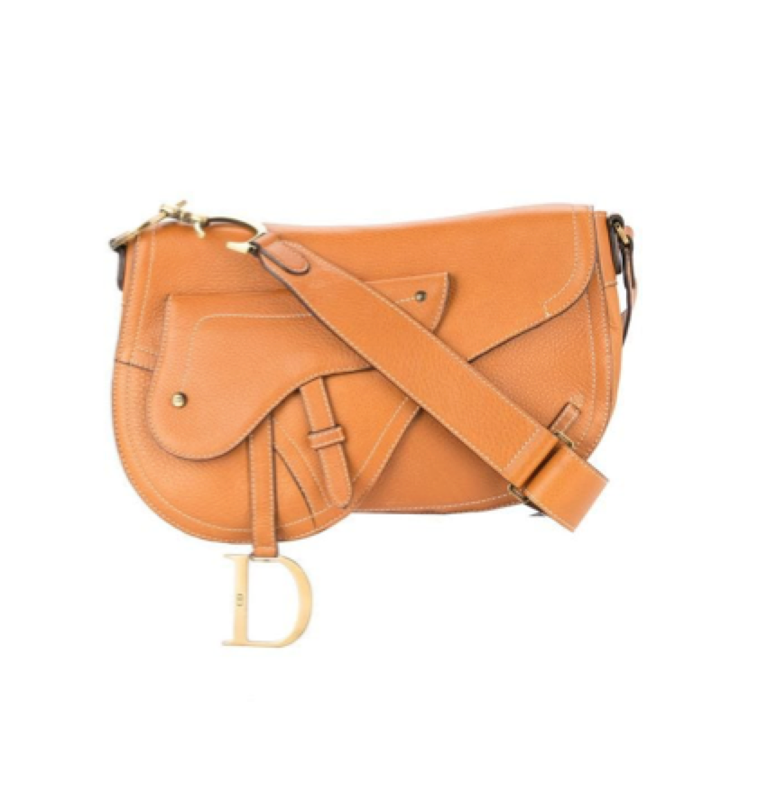 CHRISTIAN DIOR -   Vintage Saddle Shoulder Bag