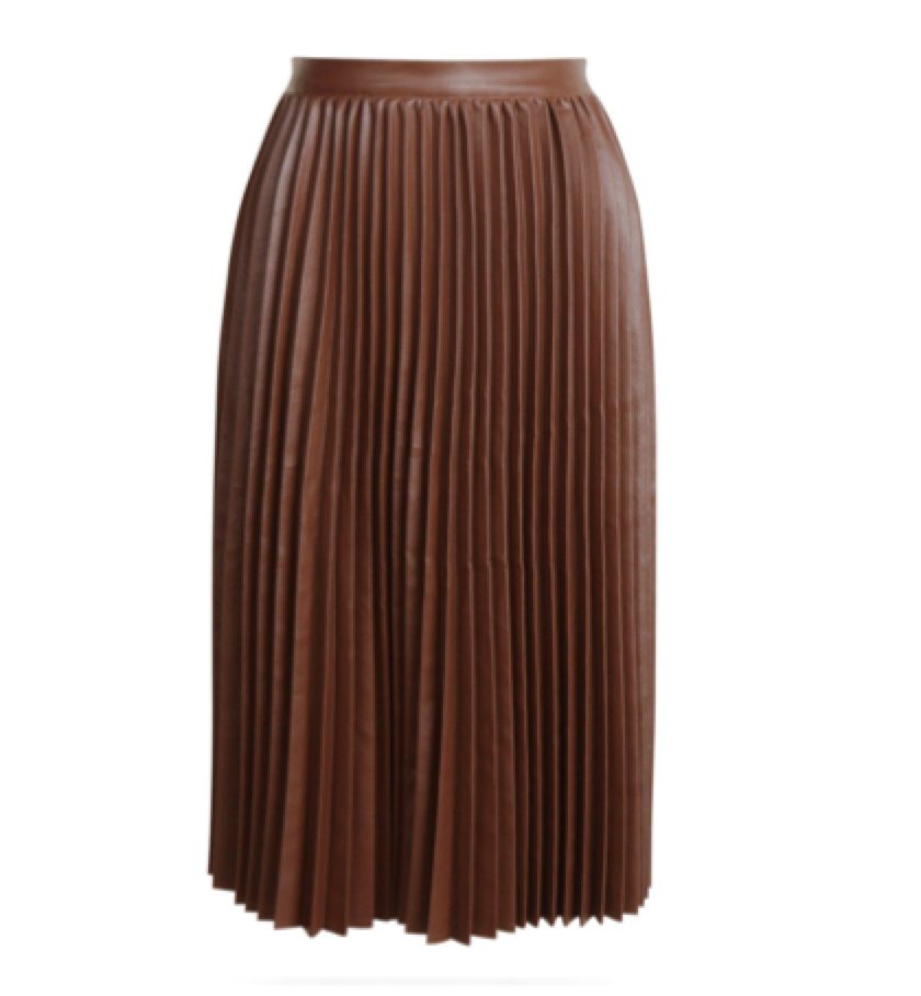 BOHOO -  PU Pleated skirt