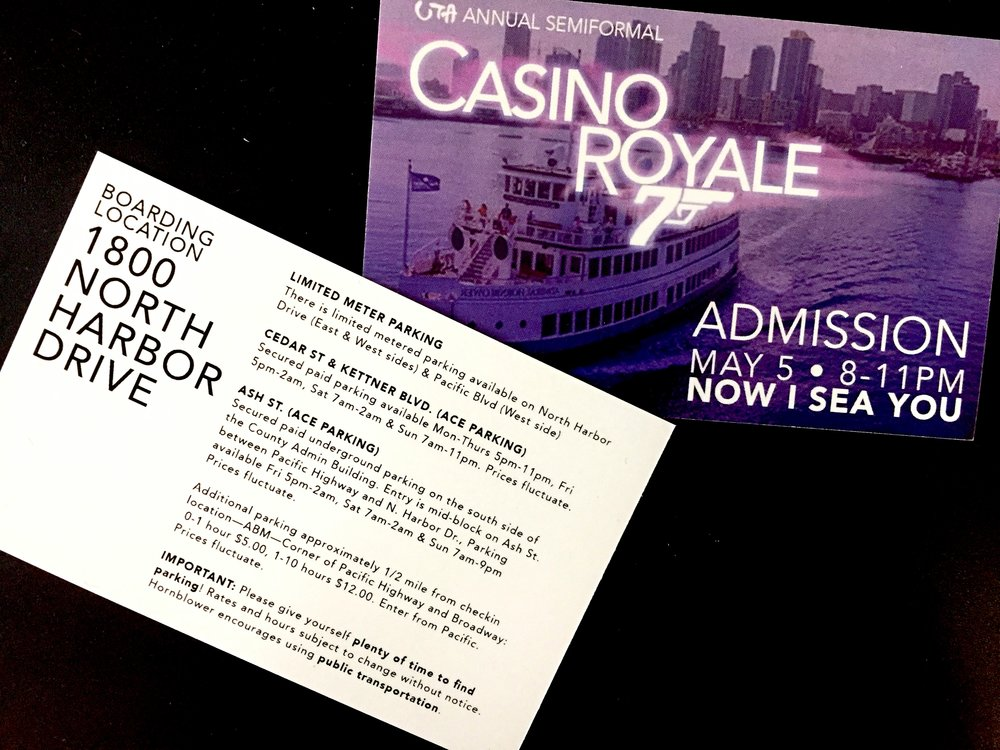 Semiformal Ticket Design