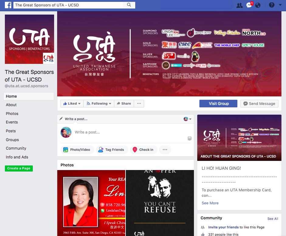 Sponsor Facebook Page