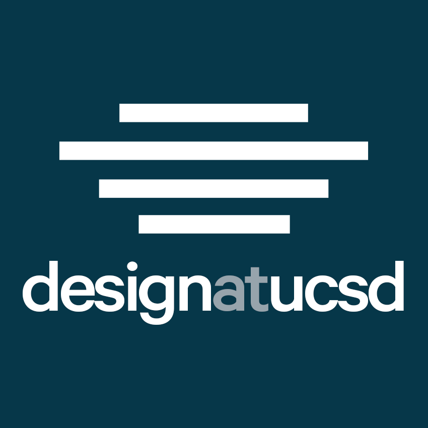 The logo - The original founding members of Design at UCSD came up with an iconic logo consisting of 4 horizontal lines; the logo represented the distinctive shape of the UCSD Geisel Library. When I took the role as Graphic Studio Chair in 2016, I collaborated with board members to retouch the logo, introduce new color scheme and font, and re-stylize the organization name.