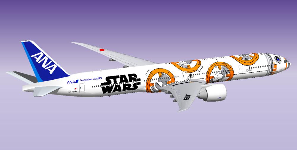 ANA Star Wars Jet BB-8 77W