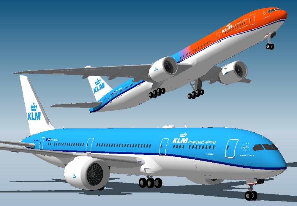 "KLM 789 and ""Orange Pride"" 77W"