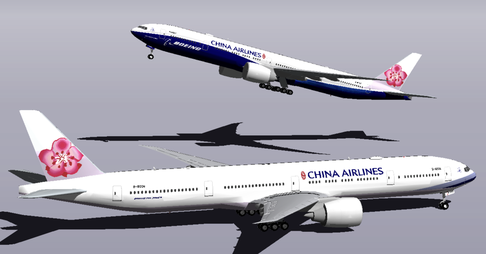 China Airlines-Boeing Co-Branded 77W