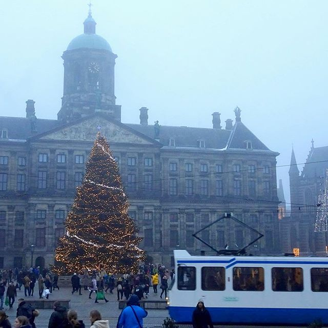 A source of warmth in the gloomy city #amsterdam