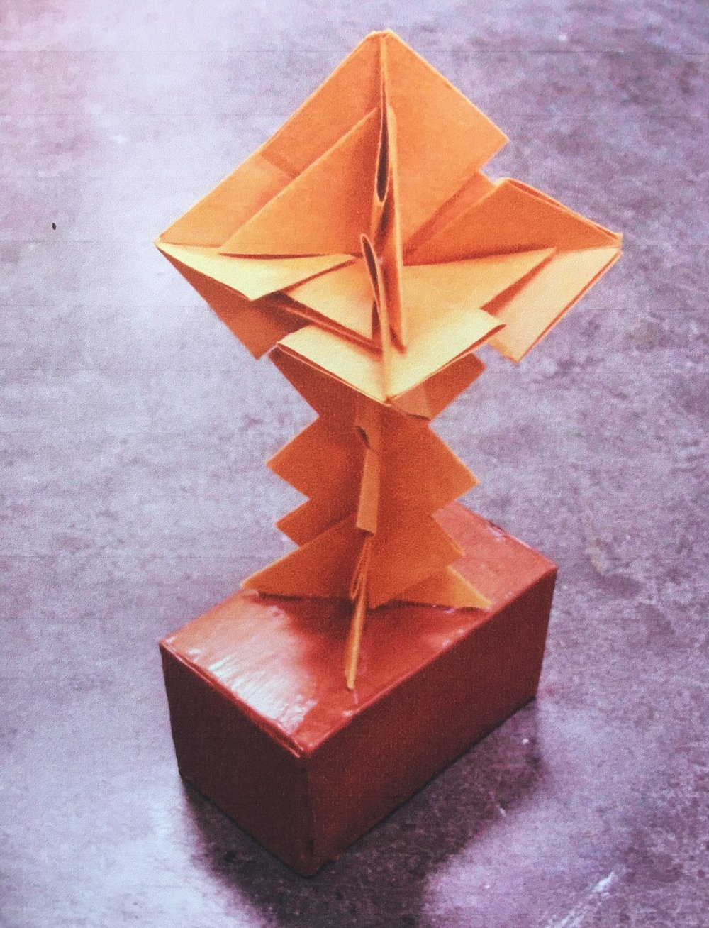 Final Sculpture - Module sculptures look excellent on painted pedestals. Take a box you can paint and glue your finished sculpture on it.You will have a nice display.
