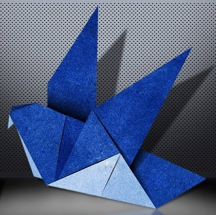 Artwork - Origami artworks are usually completely symmetrical and free standing.