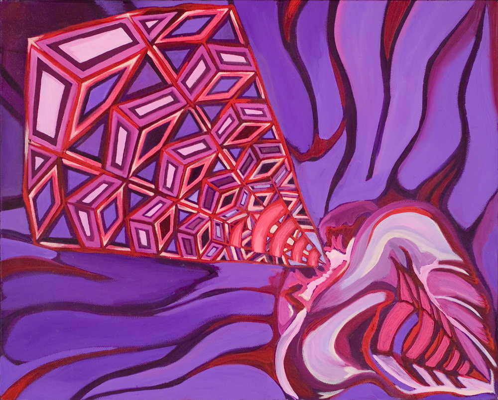Purple Light  Oil on canvas, 18x24in.