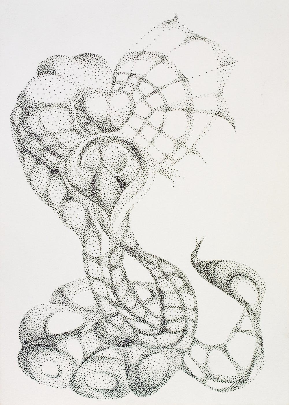 Cobra of Love  Pen on paper, 8x6in.