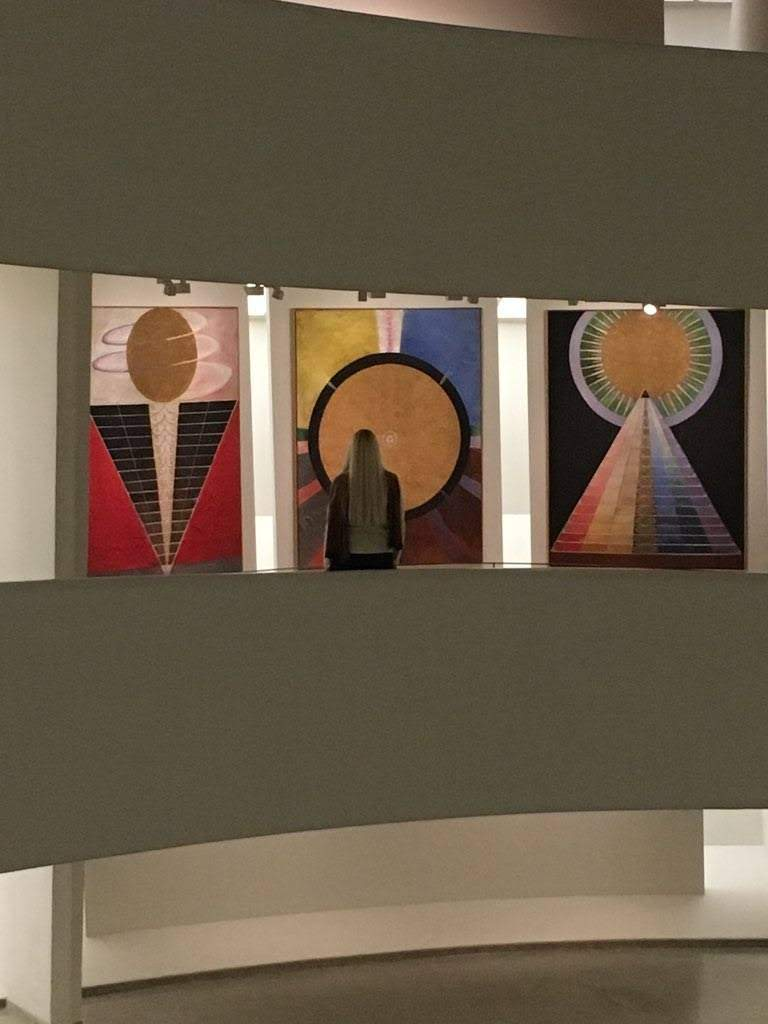 Hilma af Klint - Paintings For the Future at the Guggenheim Museum in NYC. Photo by Bailey Carr.