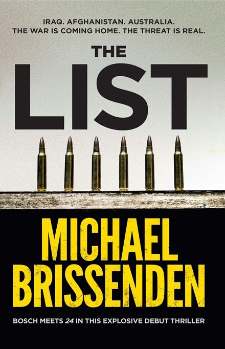 80 - The List by Michael BrissendenSidney Allen is a Fed. Part of the Australian Federal Police's K block, a unit doing whatever it takes in order to stop terrorist attacks on home soil. But when young Muslim men on the Terror Watchlist start turning up dead, Sid and his partner, Haifa, have to work out what's going on. Sectarian war? Drugs? Retribution? For Sid, there's nothing unclear about a bullet to the head and a severed hand. Someone is sending a message. Deciphering that message reveals a much wider threat and Sid and the agency have to decide just how far they'll go to prevent a deadly attack. Time is running out ... for them and Australia.  What's going on? Here's another journalist stepping out of his comfort zone - if you can call reporting for ABC news a comfort zone - into thriller territory. Keep a look out for the real stuff - we used to call it facts - running through this fast-paced terror novel. And yes, we'll be welcoming Michael to our Festival in August.