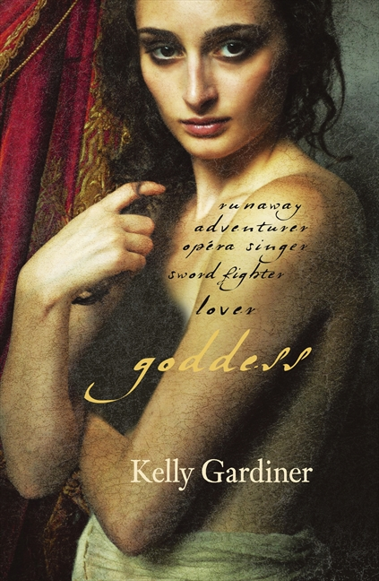 "75 - Goddess by Kelly GardinerGoddess is a novel based on the life of the remarkable Julie d'Aubigny, known as Mademoiselle de Maupin – swordswoman, opera singer, occasional nun and seventeenth century superstar. She grew up in the Sun King's Versailles, was the lover of powerful men – and women, and became the darling of Paris and Brussels, famous for her duels and breeches and escapades. After her death she was turned into an icon of infamy, of Romanticism, of decadence or courage. She has been immortalised on page and screen – even a ballet – and more recently dubbed ""Badass of the Week"" online."