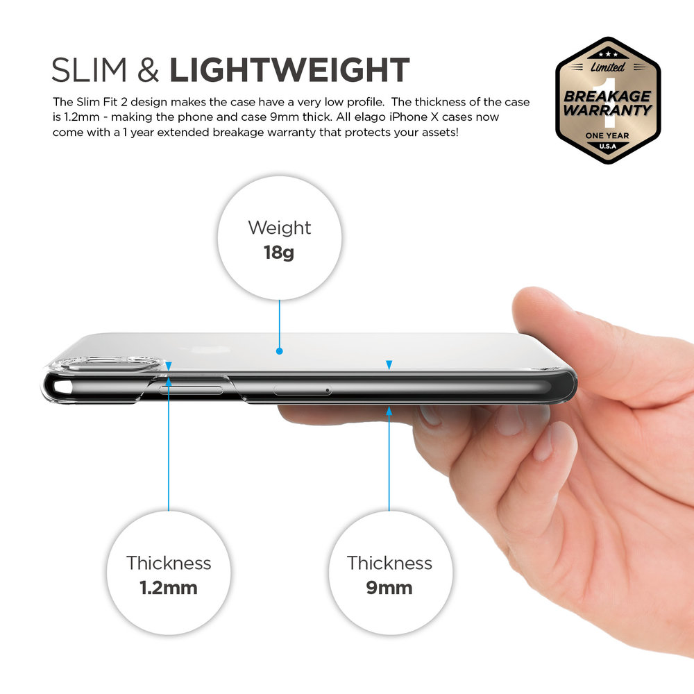 finest selection 14312 1d0d6 Slim Fit 2 Case for iPhone X - Crystal Clear