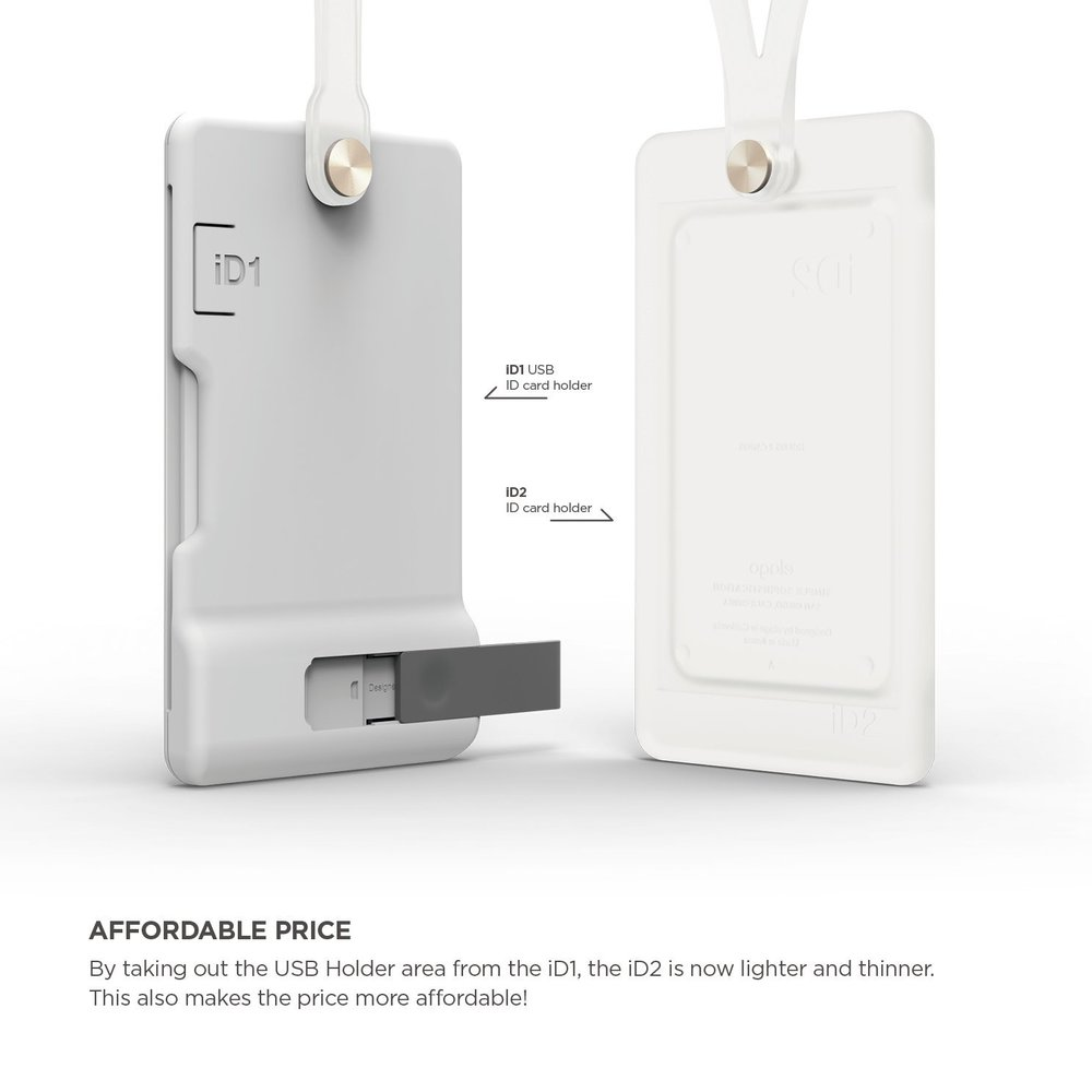 id2 silicon id card holder fostered white - Id Card Holder