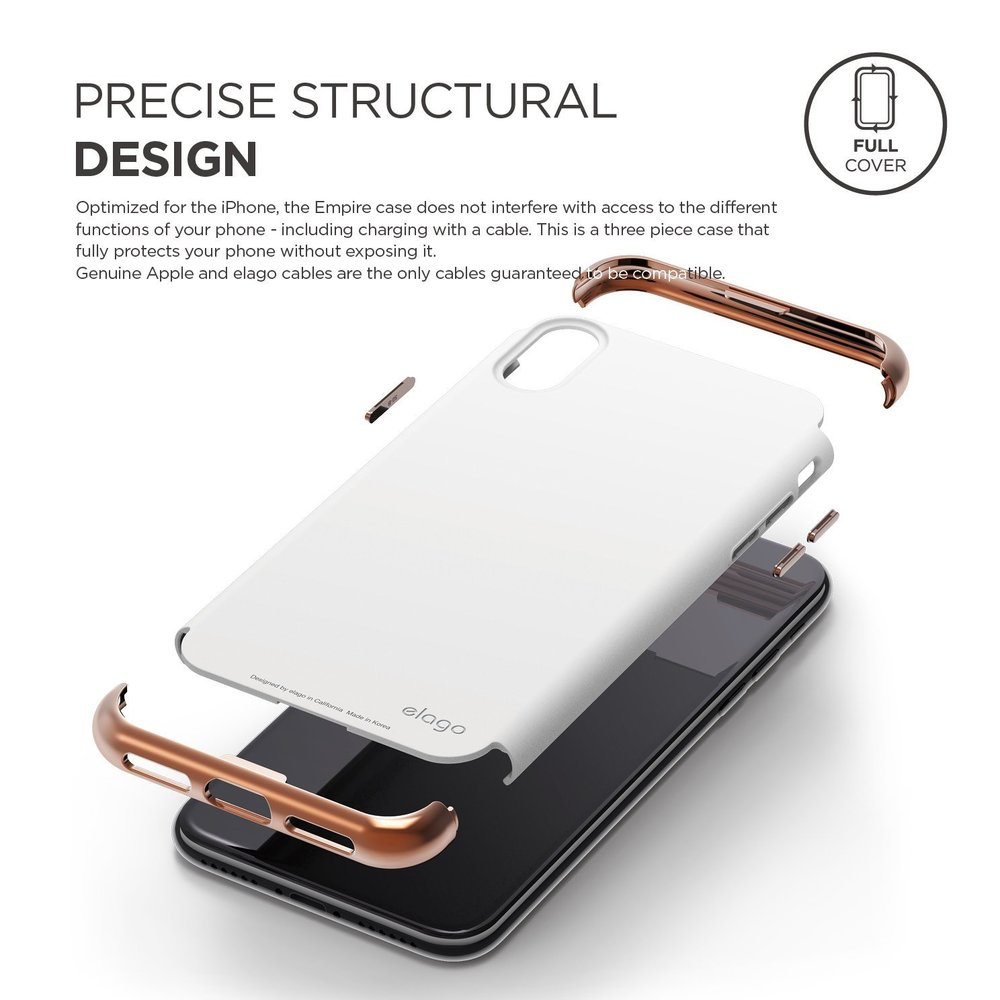 separation shoes 92bbd 90183 Empire Case for iPhone X - Rose Gold/White