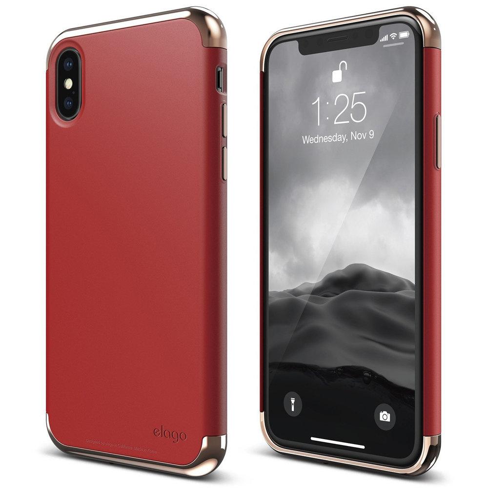 Empire Case For Iphone X Rose Gold Red Elago
