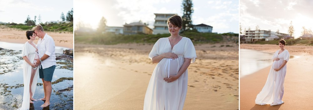 sydney beach maternity session