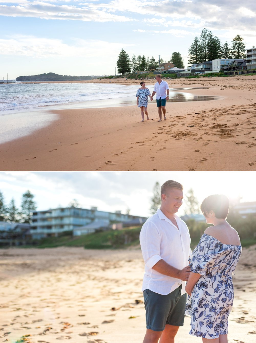 sydney beach maternity session images