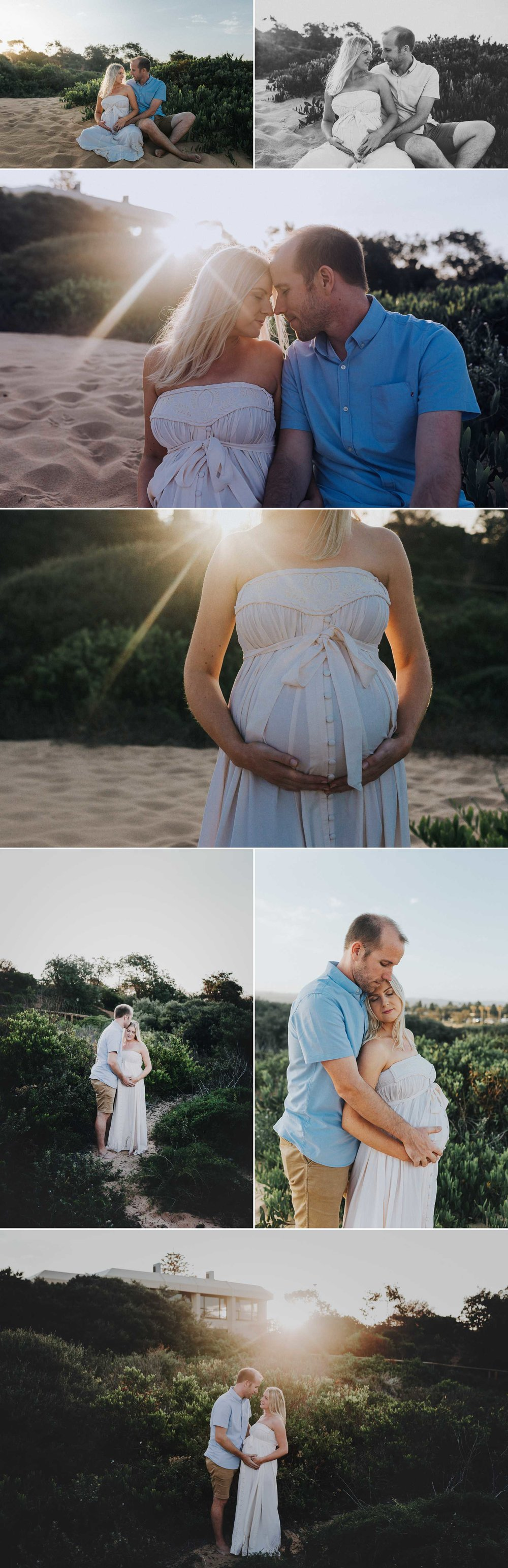 beach sunset maternity session