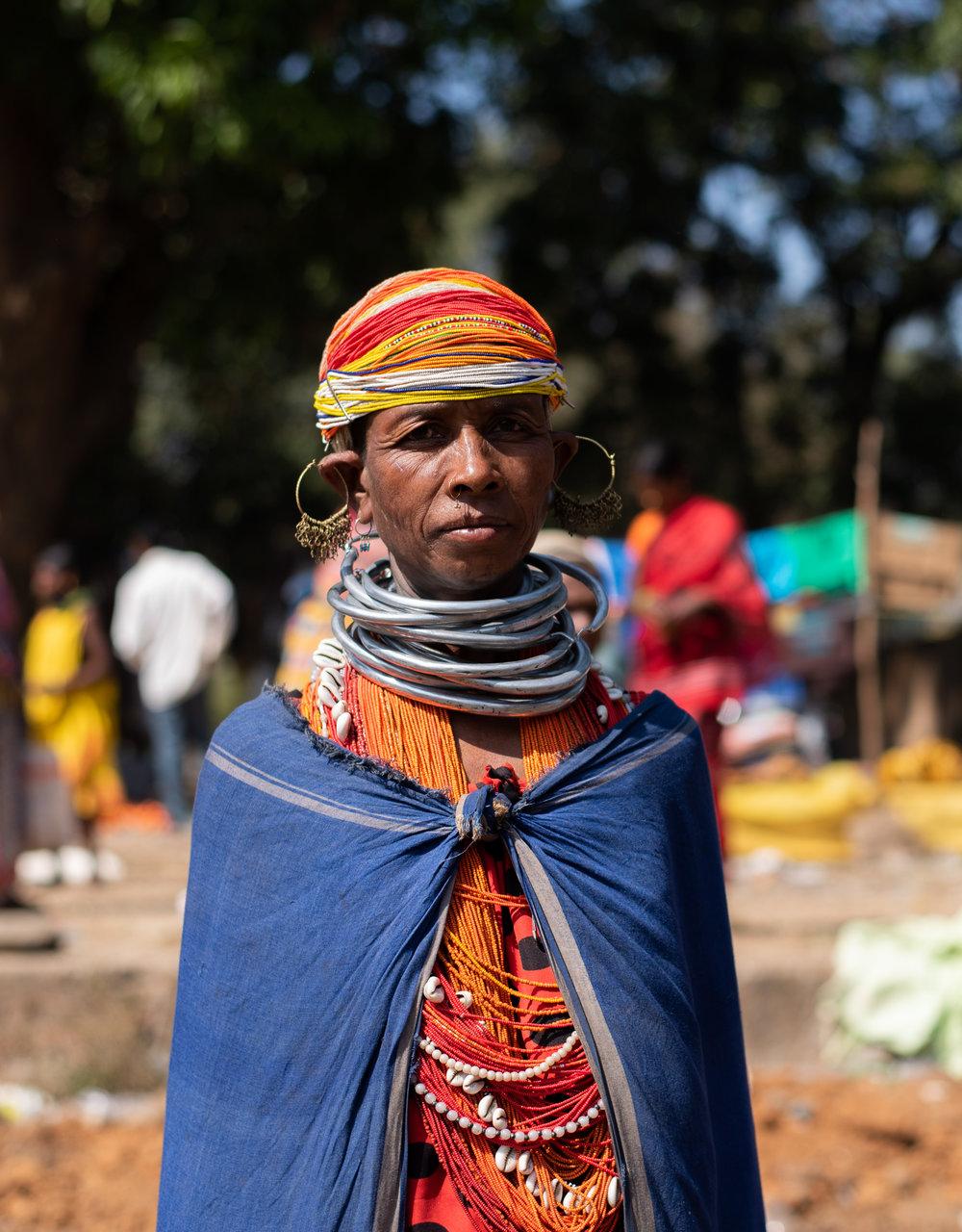 Bonda woman at the local market