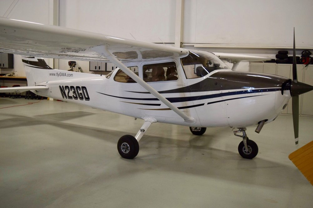 CESSNA 172 - Super comfortable rides in one of  our three Cessna 172s. A superb training machine!  Be one of thousands that have learned in this classic airplane.