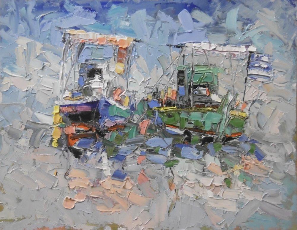 Greek fish boats