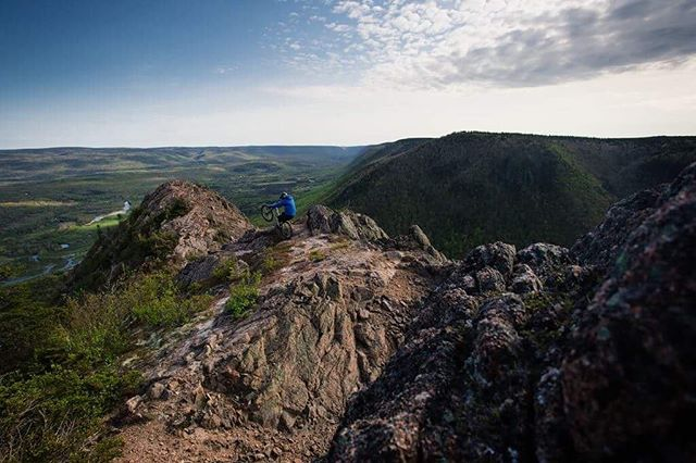 Mountain biking is on the rise in Cape Breton. Endless trails to explore and views to be overwhelmed by. This is @_headoverwheels_ in Aspy Bay! . . . . . . #explorecb  #capebreton #visitnovascotia #explorecanada