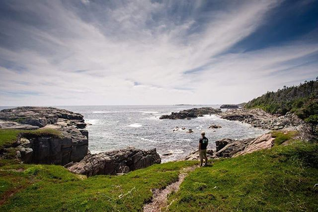 Louisbourg is a great destination for many reasons. The scenery along the Lighthouse trail is one of them. It's a 14.5 km trail that starts at Canada's first lighthouse. You can easily reach beautiful coastline views and make it a shorter hike if you want. . . . . . . #hikecapebreton  #visitnovascotia  #capebreton  #explorecanada  #louisbourg