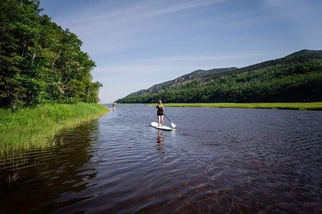 Have you tried paddle boarding in Cape Breton? So many amazing spots to unwind. Check out Riverside paddle sports in Chéticamp. Tusarvik@gmail.com . . . . . . . @visitcapebretonisland  @visitnovascotia  #explorecanada  #explorecb  #cheticamp #visitnovascotia