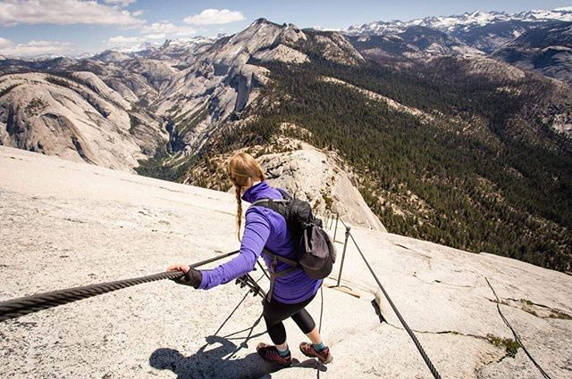Hiking #halfdome is out of this world. Can't wait to get back to #california!! . . . . . . #yosemitenationalpark  #hikingblogger