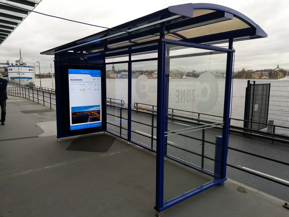 Teleste's smart and safe bus stop in Stockholm