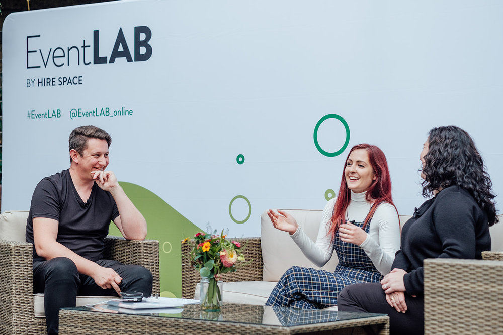 Martin, Natalie and Gillian on the panel Retaining and Nurturing Talent in Events at EventLAB 2018