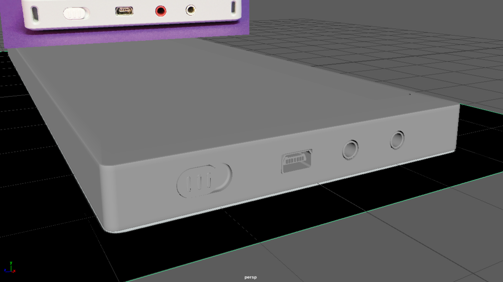 I started off by modeling the frame of the Synthesizer in Autodesk MAYA.